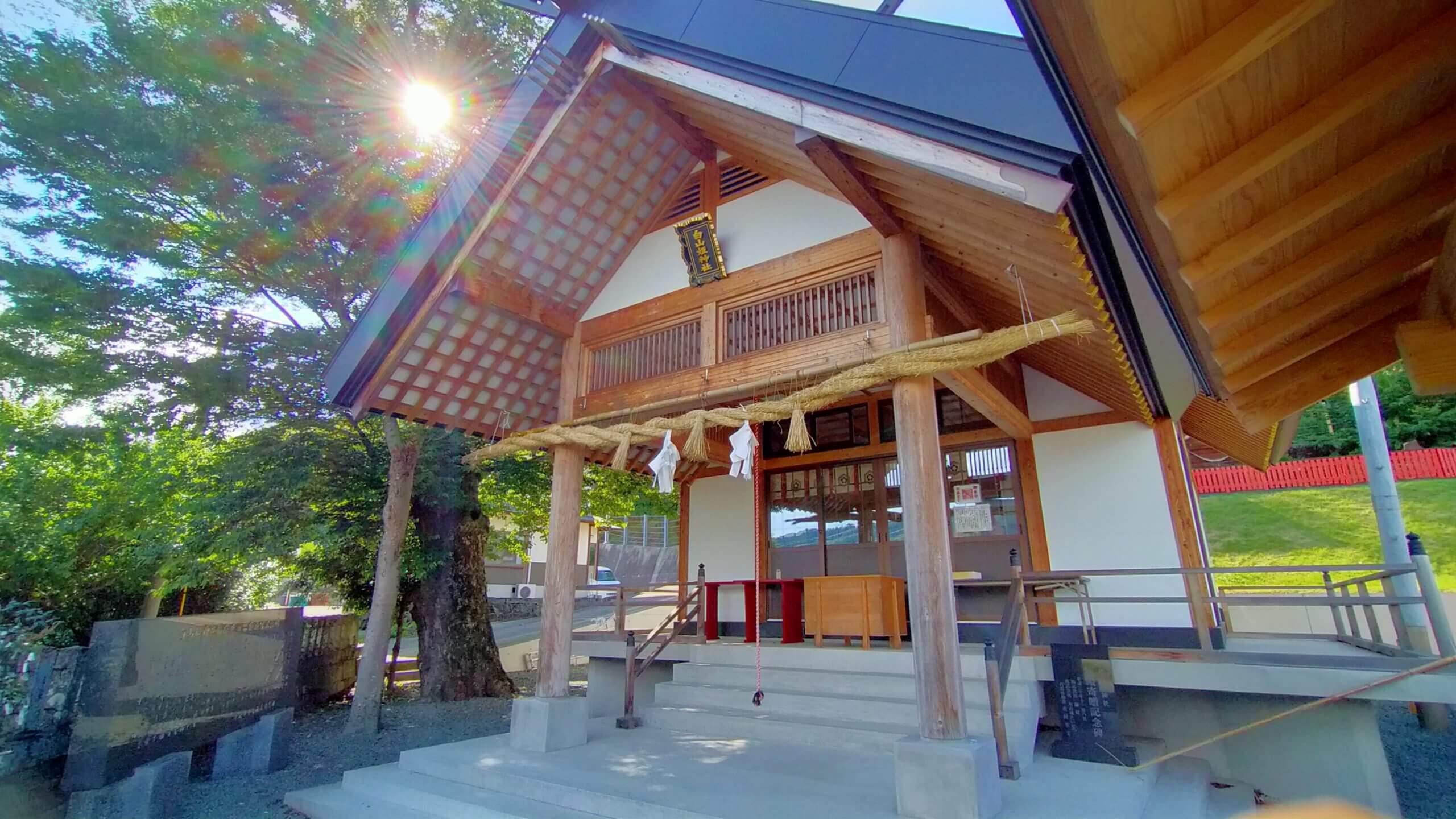 白山姫神社の拝殿